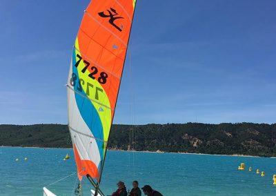 Activites nautique au Lac de Sainte Croix - Catamaran de départ