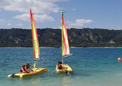 Activites nautique au Lac de Sainte Croix - depart de Funboat
