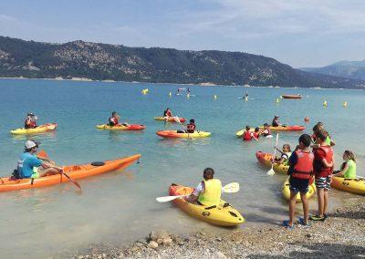 Activites nautique au Lac de Sainte Croix - préparer Kayak Polo
