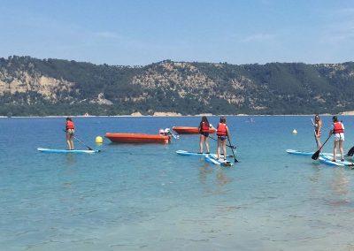 Activites nautique au Lac de Sainte Croix - Paddle