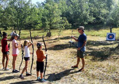 Activites terrestre au Parc du Verdon - Tir à l'arc instructions